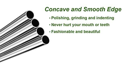 Concave and smooth metal straws