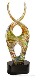 14 1/2 inch Color Twist Art Glass
