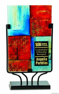 Premier Art Glass Rectangle Plaque