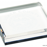 3 3/4″ x 3 3/4″ Clear Acrylic Paperweight  1
