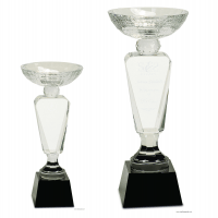 Clear Crystal Cup with Black Pedestal Base