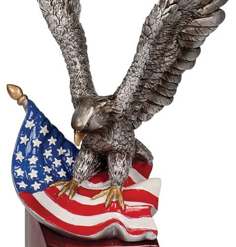 Hand Painted Resin Eagle on Base