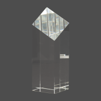 "7"" Crystal Diamond Top Pillar"
