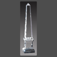 "3"" x 14 1/2"" Crystal Obelisk Towers on Pedestal"