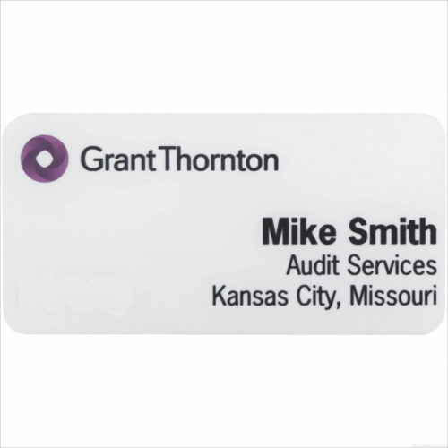 MA426FC – 1-1/2″ x 3″ White Metal 4-Color Process Name Badge