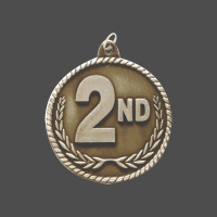 "2"" 2nd Place High Relief Medal"