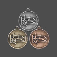 "2"" Music High Relief Medal"
