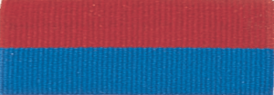 """7/8"""" Red/Blue Neck Ribbon with Snap Clip"""