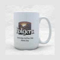 15 oz. White Full Color Sublimatable Ceramic Mug
