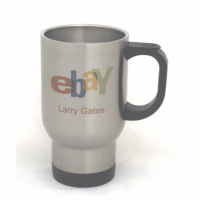 14 oz. Silver Full Color Stainless Steel Travel Mug