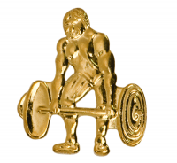 Weightlifter Lapel Pin