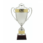 "29 1/2"" Silver with Gold Accent Trophy Cup"