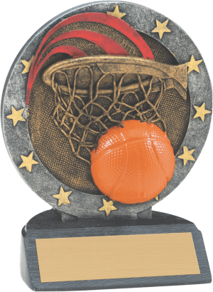 "4 1/2"" Basketball All Star Resin"
