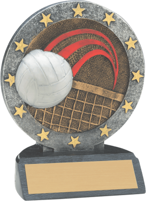 """4 1/2"""" Volleyball All Star Resin"""