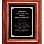 Plaque – Solid Walnut Frame Plaques with Gold Trim and Black Velour