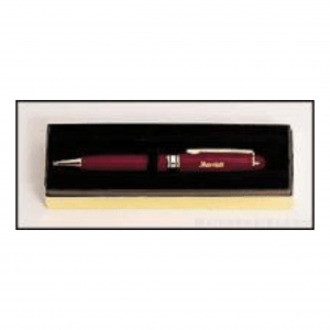 Burgundy Euro Pen with Gold Trim 1