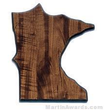 Minnesota State Shaped Plaque 1