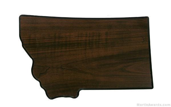 Montana State Shaped Plaque 1
