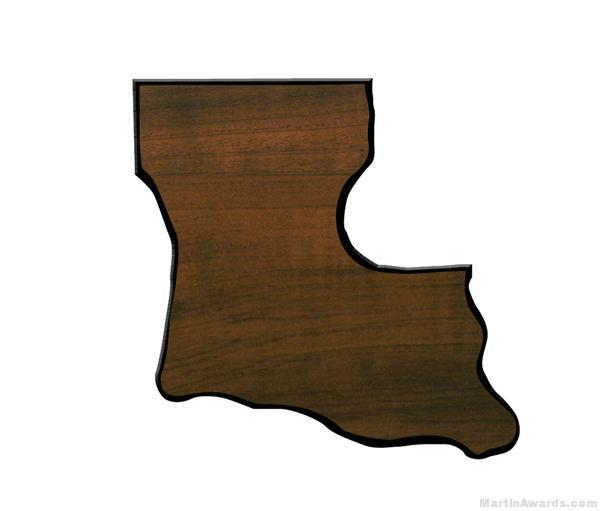 Louisiana State Shaped Plaque 1