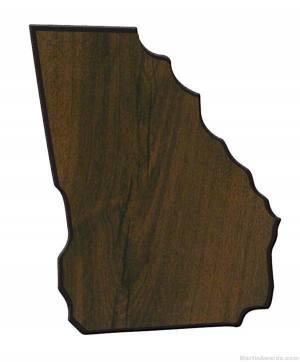 Georgia State Shaped Plaque