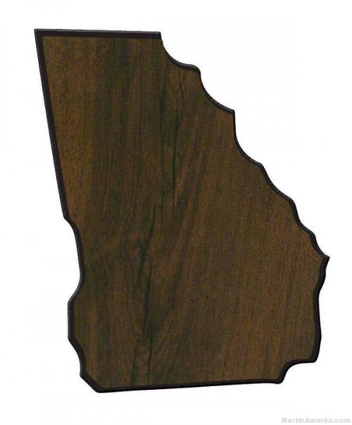 Georgia State Shaped Plaque 1