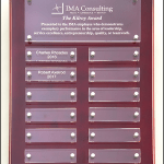 Rosewood Perp. Plaque with Acrylic