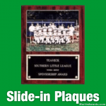 Slide-in Plaques