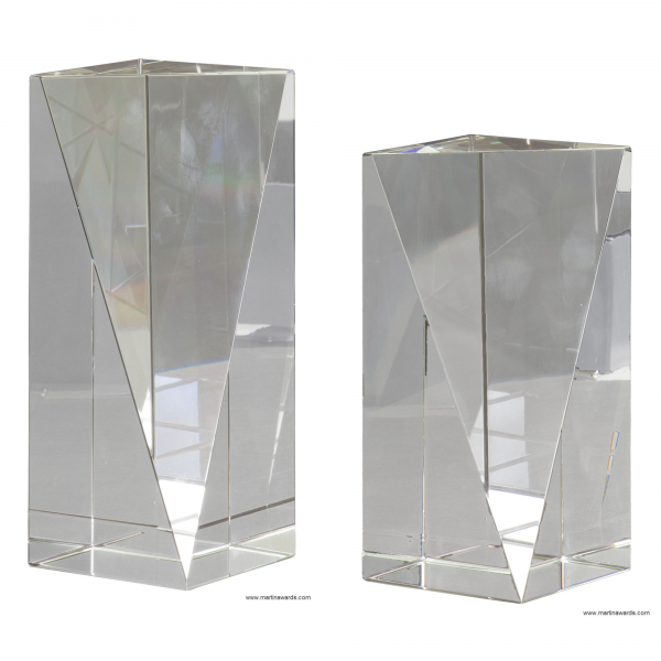 Triangle front pillar Crystal Award