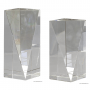 Triangle front pillar Crystal Award