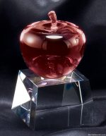CRYSTAL RED APPLE ON BAS