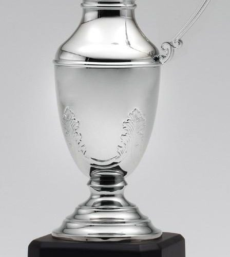 Nickel Plated Claret Jug on Base