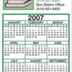 Business Calendar Magnet – Four Color Process 1