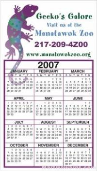 Business Calendar Magnet - Large -  Four Color Process