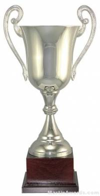 "15-1/4""  ARG 1000 Silver Plated Trophy Cup"