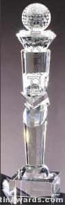 Crystal Glass Awards – 3″ x 16″ Genuine Prism Optical 1