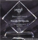 "Crystal Glass Awards - 7 1/2"" x 8"" Genuine Prism Optical"
