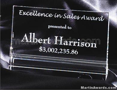 Crystal Glass Awards – 4″ x 6″ Genuine Prism Optical 1