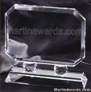"Crystal Glass Awards - 7"" x 7"" Prism Optical"