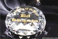 "Crystal Glass Awards - 2"" x 3 1/2"" Genuine Prism Optical Crystal Diamond"