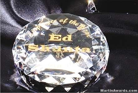 Crystal Glass Awards – 2″ x 3 1/2″ Genuine Prism Optical Crystal Diamond 1