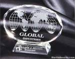 "Crystal Glass Awards - 5"" x 6 1/2"" Genuine Prism Optical Crystal With Base"