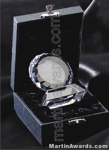 Crystal Glass Awards – 2 1/2″ x 3″ Prism Optical Crystal 1
