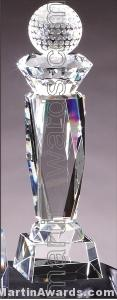 "Crystal Glass Awards - 3"" x 12"" Genuine Prism Optical Crystal"