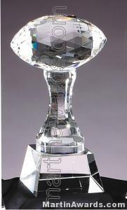 3 1/2″ x 9″ Football Prism Optical Crystal Glass 1