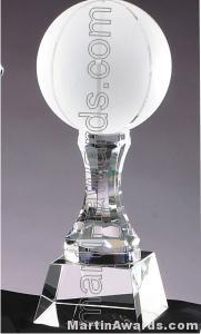 3 1/2″ x 10 1/4″ Basketball Prism Optical Crystal Glass 1