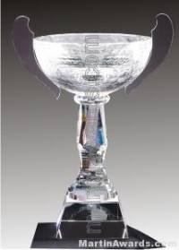 "10 1/2"" x 15"" Genuine Glass Awards Cup With Base"