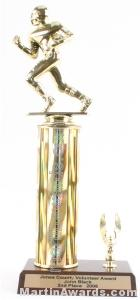 Gold Single Column Football With 1 Eagle Trophy 1