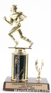 Black Single Column Football With 1 Eagle Trophy 1