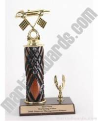 Wood Single Column Pinewood Derby Car With 1 Eagle Trophy