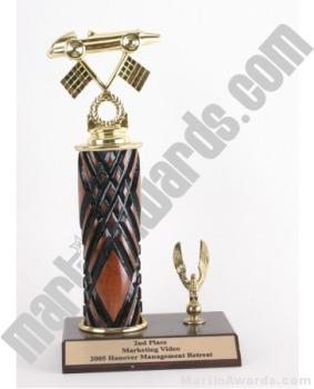 Wood Single Column Pinewood Derby Car With 1 Eagle Trophy 1